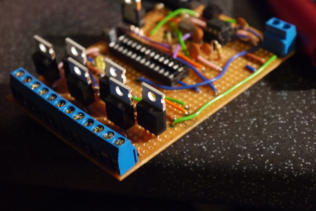 Final circuit board without microcontroller