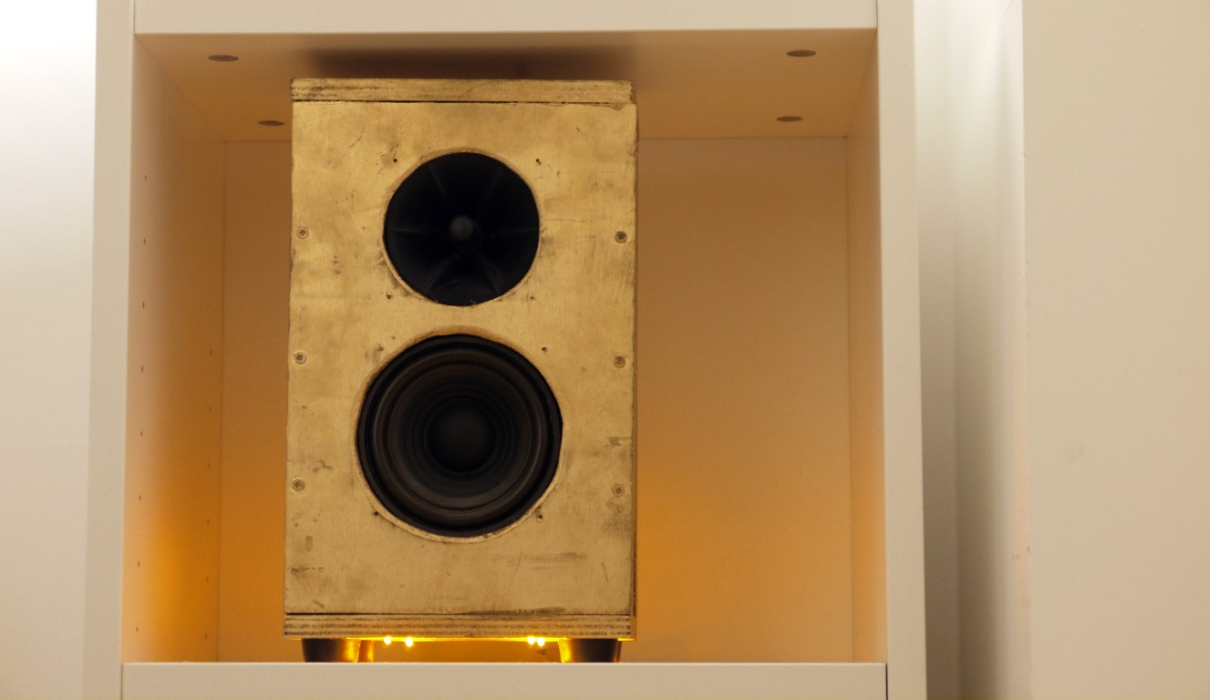 Wider image of finished speaker